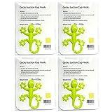 Gecko Form Kunststoff Saugnapf Wandhaken Aufhänger, Set von 4, 8, 12(4Farben), plastik, grün, 2W X 2.5L