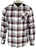 Brave Soul Men's 'Persuader' Checked Long Sleeve Casual Shirt Wine S