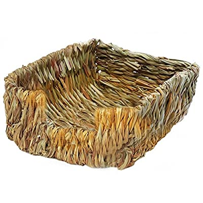 Portable Grass Bed Rabbit Grass House,Natural Bed And Grass Nest,Hand-Made Natural Grass Pet Bedding Chew Toys,for Guinea Pigs Chinchillas And Rabbits from Ardorman