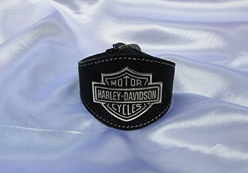 Bracciale Harley-Davidson button adesivi Emblem pregiata per moto con teschio skull shield tal Bike teschio in pelle