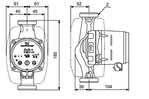Grundfos 97914908 Alpha2 32-60 PN 10 G - Pompa da
