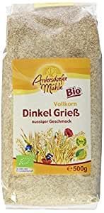 Antersdorfer Mühle Dinkelgrieß Bio, 6er Pack (6 x 500 g)