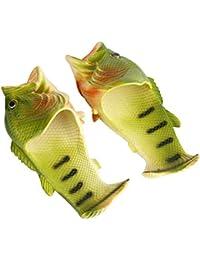 Zapatillas de Pescado Divertidos Animales Zapatillas de Playa Sandalias Chanclas Zapatos Flip Flops Shoes(40-41)