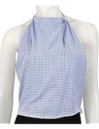 Ex cadena Store Niñas azul Gingham Halter cuello semi-open BACKTOP 10–15años de edad