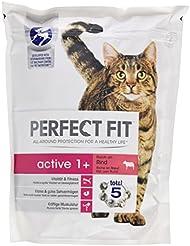 PERFECT FIT Katzenfutter Trockenfutter Active 1 plus reich an Rind, 750 g