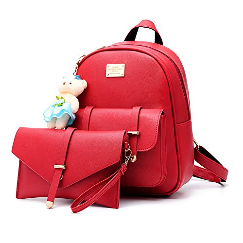 Flada, Borsa a zainetto donna rosso Red medium Red