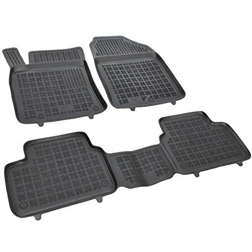 AME Auto-Gummimatten Fußmatten mit Schmutzrand, Geruch-vermindert, passgenau mit Befestigungskit 201619RG