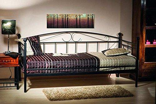 Jadella Bett Ankara aus Metall Schwarz Lackiert