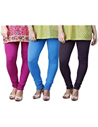 Limeberry Women's Cotton Legging Pack of 3 (LB-3PCK-LEGG-CMB-5_Multicolor)