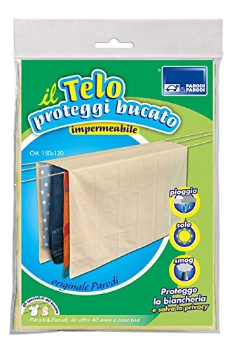 Parodi & Parodi Tela para Cubrir el tendedero, 150 cmx 120cm, Tela antilluvia, Color Beige, Impermeable y Transpirable.