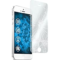 PhoneNatic 2 x Glas-Folie klar für Apple iPhone SE Panzerglas für iPhone SE