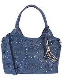 FUR JADEN Women's Handbag( Blue,H295_Navy)