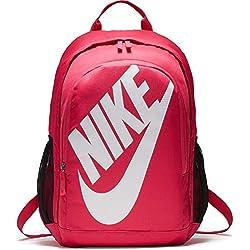 Nike Hayward Futura Bkpk Solid Mochila, Hombre, Blanco/Negro / Rosa (Rush Pink), S