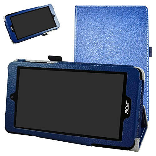 "Acer Iconia One 7 B1-780 / B1-790 Coque,Mama Mouth Slim Folio PU Cuir debout Fonction Housse Coque Étui Couverture pour 7"" Acer Iconia One 7 B1-780 / B1-790 Android Tablette,Bleu clair"