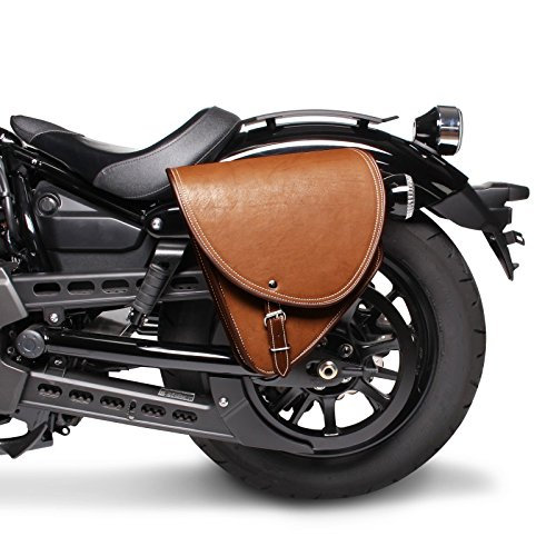 BORSA BISACCIA LATERALE MARRONE LATO SINISTRO SINISTRA PORTA ATTREZZI COMFORT ECO PELLE MOD INDIA CINGHIE DI FISSAGGIO UNIVERSALE MOTO CUSTOM HARLEY DAVIDSON SPORTSTER SOFTAIL FAT FOY CROSS BONES DYNA GLIDE SPORT SUPER NIGHTSTER IRON FORTY EIGHT 48 XL 883 1200 LOW RIDER BAD BOY SPRINGER HONDA VT SHADOW SUZUKI INTRUDER VOLUSIA MARAUDER YAMAHA DRAG STAR XVS 650 1100 KAWASAKI VN VULCAN 800 900 1500