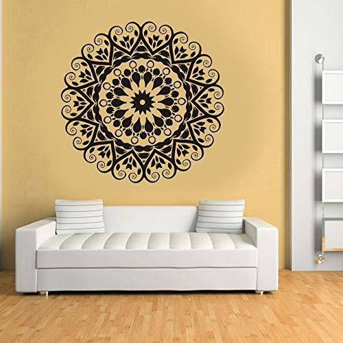 Dongwall Neue Jahr Dekoration indische runde Mandala Yoga wandaufkleber Vinyl abnehmbare wasserdichte Wand Wohnzimmer Schlafzimmer 57 * 57 cm (Dekorationen Für Das Neue Jahr)