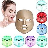 [nueva versión 2017] Havenfly LED terapia de fotones 7 colores tratamiento de luz facial belleza cuidado de la piel rejuvenecimiento Pototherapy mascarilla PDT belleza facial cuidado para el hogar (rosa de oro)