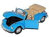 VW Volkswagen KÄfer Old Beetle Blau Cabrio 1/24 Welly Modellauto Modell Auto