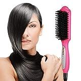 Euph Haarglätter 3-in-1 Haarglätter-Bürste Anion Instant-Magie gerade Haar Styling Haarbürste Hair Brush Anti Static Keramik Heizung Airstyler Comb-Farbe Auswahl