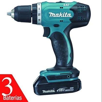 Makita DDF343RYE3 - Taladro atornillador 14,4V Litio 1,5Ah 3 baterías