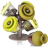 Tomorrow's kitchen popsome set de 6 -2843660- Arbol dispensador para especias y hierbas, color verde.
