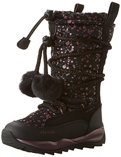 Geox J Orizont B Girl Abx A, Stivali da Neve Bambina, Nero (Black c9999), 28 EU