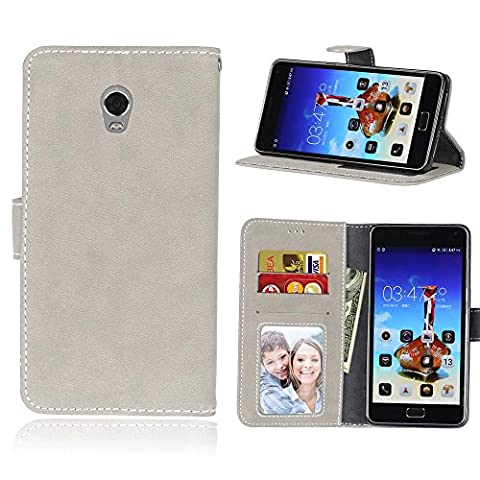 Lenovo Vibe P1 Case,BONROY® Lenovo Vibe P1 Retro Matte Leather PU Phone Holster Case, Flip Folio Book Case, Wallet Cover with Stand Function, Card Slots Money Pouch Protective Leather Wallet Case for Lenovo Vibe P1