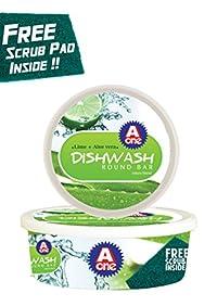 Aone Dishwash Round Lime+Aloe Vera 500Gms(Pack Of 5)