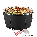Aobosi Smokeless Barbecue Charcoal Grill con Bolsa de Viaje, Ideal para Exteriores