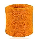 Poignet éponge sport anti-transpiration taille unique (orange fluo, taille unique)
