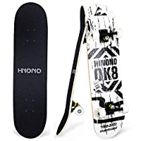"ToyerBee Skateboards with A Repair Kit, 31"" x 8"" Complete Skateboard for Kids & Adults, 9 Layer Canadian Maple Double Kick Skate Board for Extreme Sports and Outdoors, Skateboards for Beginners &Pro"