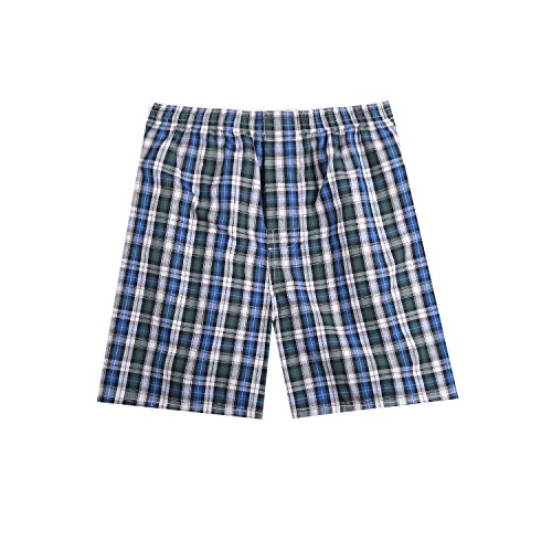 Pau1Hami1ton B-01 Herren Baumwolle Boxershorts Karo Woven Boxer Shorts Unsichtbar Elastische Taille Unterhose Unterwäsche,1 Packung, 44 Farben(22#,L) (Herren-boxer-unterwäsche-plaid 3)
