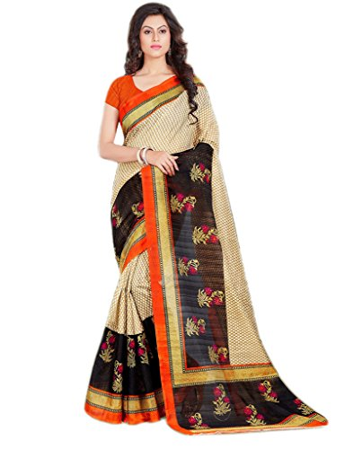 Sarees (for Women Party Wear offer Designer Sarees New Collection Today Low Price Sarees Below 500 in Multi-coloured Art Silk Bhagalpuri Material Latest Saree With Designer Blouse Free Size Beautiful