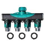 lzn 4 Wege Wasserspalter Schlauch Wasser Verteiler mit separaten Ventilen