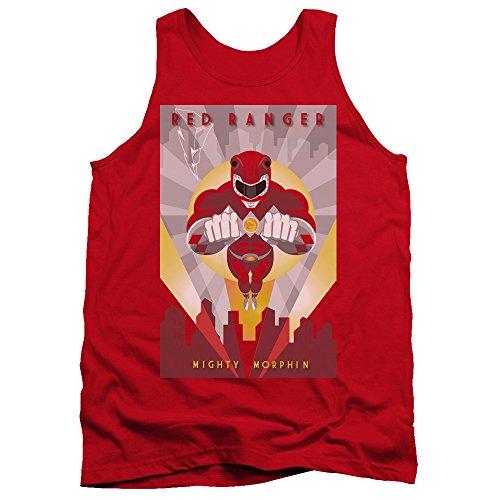 Power Rangers - - Débardeur Rouge Déco pour hommes, Small, Red