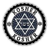 Kosher Grunge Rubber Stamp Alta Calidad De Coche De Parachoques Etiqueta Engomada 12 x 12 cm