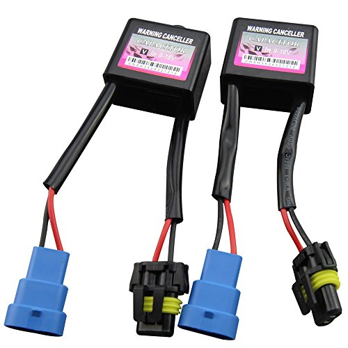 Car Rover® 2 PC Advertencia Error canceladora de Canbus xenón HID kits de HID decodificador luz de la lámpara del condensador de relé Error Aviso cancelador de antiparpadeo