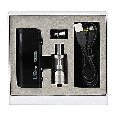 IMECIG P5 e Zigaretten set Box Mod 0.2ohm 50W mit Protank mini Verdampfer 3ml Glasstank OCC Dual Coil ohne nikotin Schwarz von IMECIG
