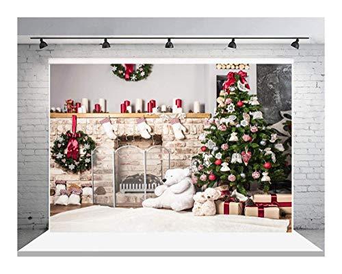 Personalizado Telón De Fondo De Navidad Oso Encantador Decoraciones Para Árboles Navidad 7 × 5 Pies Para Home Studio Prop Fotografía Telones Fondo Flores Navidad Fondo Foto Regalos Chuchería Navidad