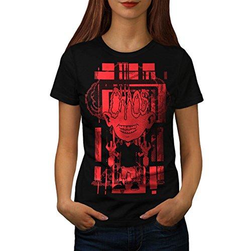 Verrückt Wissenschaftler Horror Bombe Kind Damen M T-shirt | Wellcoda