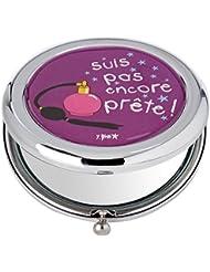 Incidence Paris Miroir de Poche Métal pas Encore Prête, 6 cm, Violet