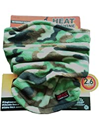 Adults Heat Machine Double Layer Fleece Neck Warmer with Toggle