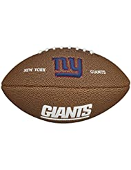 Wilson NFL Team Logo New York Giants - Mini balón de fútbol americano, color marrón, talla única