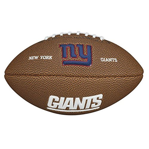 Wilson NFL Team Logo Mini New York Giants American Football, Braun, Größe Mini