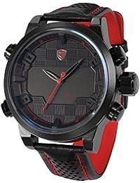 Shark Herren LED Armbanduhr 5cm Extragroßes Uhrgehäuse SH203