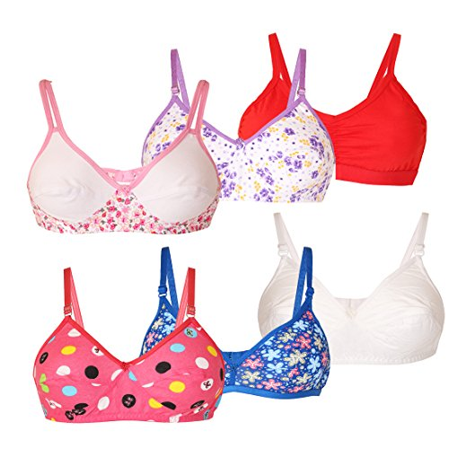 Lime Fashion Offers of 6 Bras Combo for Women's (B, 34)