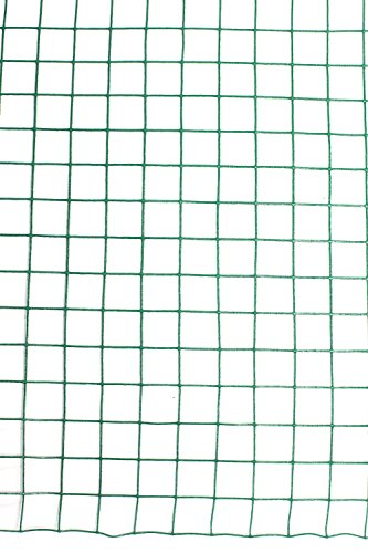 "G4RCE® 1"" x 1"" Green PVC Coated Welded Mesh Wire 30m or 45m roll in 2 widths Chicken Rabbit Animal Fence Steel Metal Garden Netting Fencing (1.2M X 30M) 4"