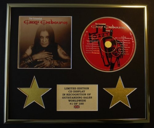 OZZY OSBOURNE/CD Display/Limitata Edizione/Certificato di autenticità/THE ESSENTIAL OZZY OSBOURNE