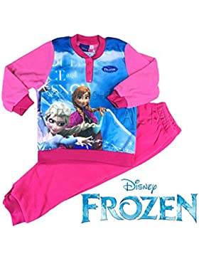 Frozen Disney Pigiama Bimba Pile Soffice e Caldo con polsini (4^ ALTEZZA 104 CM.)