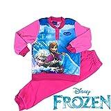 Frozen Disney Pigiama Bimba Pile Soffice e Caldo con polsini - Frozen Disney Pyjamas Girls Fleece Soft and Warm with Cuffs (8^=ITA 128CM.-UK 50,39 INCH)